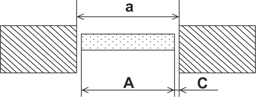 Схема замера ширины проема без